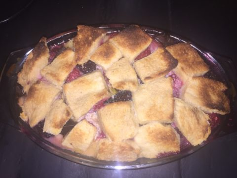 Berry bread and butter pudding